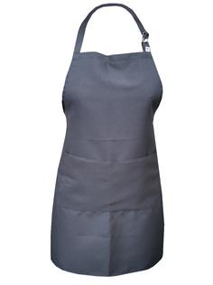 Фартук текстиль однотонный серый IQ Dekor 1761302