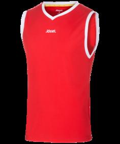 Майка мужская Jogel JBT-1001-021, красные/белые, S INT