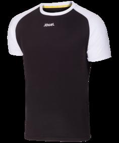 Футболка мужская Jogel JFT-1011-061, черно-белые, XXL INT