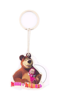 Сувенир-брелок с зеркальцем E-Best Digiprint Ltd. Маша и Медведь СМ103