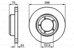 Тормозной диск Bosch 0 986 478 824