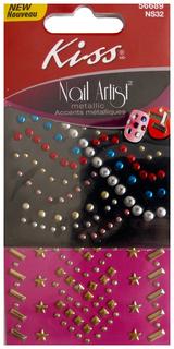 Наклейка для ногтей Kiss Nail Artist Metallic Stones Studs NS32