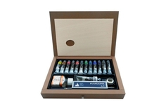 Maimeri Набор с красками акрил в деревянном ящике Maimeri BRERA 60мл, 11 цветов