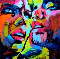 CF112/Абстрактный портрет парный - картина по номерам Color KIT
