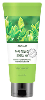 Пенка для умывания Lebelage Green Tea Balancing Cleansing Foam180 мл