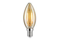 Лампа LED Свеча 2,5W E14 230V, 2500K, золото 28364 Paulmann
