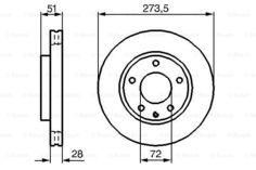 Тормозной диск Bosch 0 986 479 016