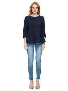 Блуза женская Baon синяя M