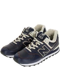 Кроссовки мужские New Balance ML574WNF/D синие/белые 41