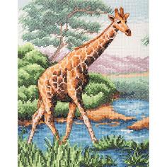 "Набор для вышивания Anchor ""Жираф"" 23х18см, PCE965"