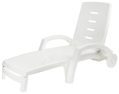 Шезлонг на колесиках Hoff 80100515 Белый