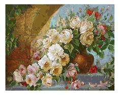 Раскраска по номерам Белоснежка Королевский букет