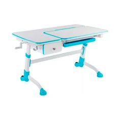 Парта-трансформер для школьника FunDesk Amare с ящиком белый, голубой,