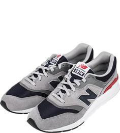 Мужские кроссовки New Balance CM997HCJ/D серые/синие/красные/белые 41.5