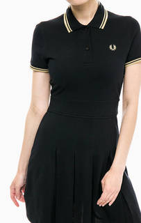 Платье женское Fred Perry D7404 157 черное/коричневое 12 UK