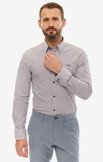 Рубашка мужская Guess M93H41-W8BX0-PTW7 белая/красная/синяя XXL