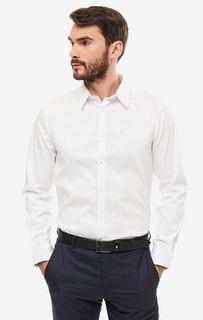 Рубашка мужская Guess M93H25-WBRE0-SHJ0 белая/серая L
