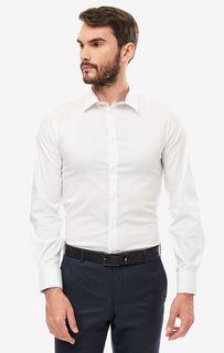 Рубашка мужская Guess M93H41-W7ZK0-TWHT белая XL