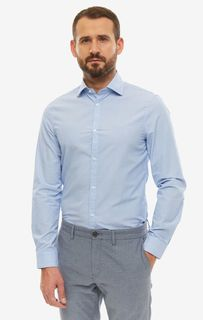 Рубашка мужская Guess M93H13-WAD20-F7Z7 синяя/белая XXL
