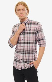 Рубашка мужская Fred Perry M7566 A12 розовая/серая/черная/белая S