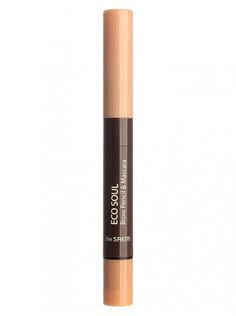 Тушь- карандаш для бровей Eco Soul Brow Pencil & Mascara 01 Light Brown 0,2гр/2,5мл THE Saem