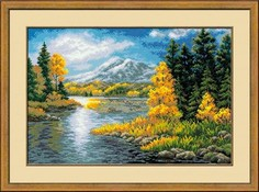 """Набор для вышивания арт.СС-1235 """"Озеро в горах"""" 60х40 см Риолис"""