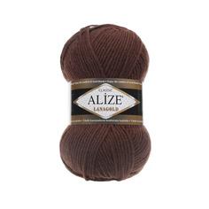 Пряжа для вязания Ализе LanaGold (49%шерсть, 51%акрил) 5х100гр/240м цв,583 корица меланж Alize