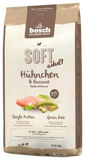 Мягкий корм для собак Bosch Soft Adult, курица и банан, 12,5кг