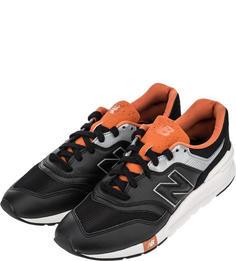 Мужские кроссовки New Balance CM997HGB/D черные/серебристые/оранжевые 41.5