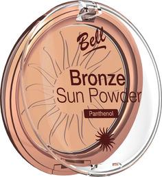 Пудра бронзирующая с пантенолом BELL Bronze Sun Powder Panthenol, тон 24 Светло-розовый