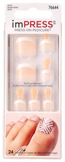 Накладные ногти Kiss Impress Toe Nails BIPT012C 30 шт.