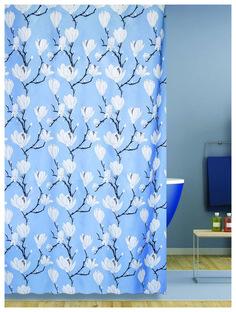 Штора 180х200 для ванны Magnolia Blue (голубой) Bath Plus