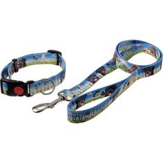 Поводок и ошейник для собак ZooOne Фотопринт Ротвейлер, 25 мм