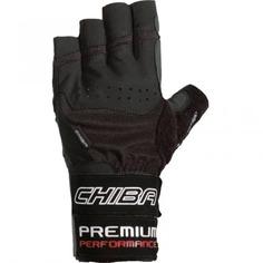 Перчатки для фитнеса мужские Chiba Premium Line Premium Wristguard, черные, L INT