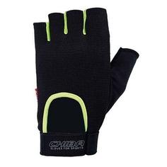 Перчатки для фитнеса мужские Chiba Summertime, черные/неоново-желтые, XS INT