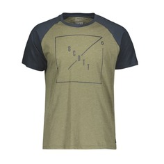 Футболка мужская Scott 30 Casual Raglan, slub green moss melange/nightfall blue, XL INT