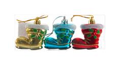 Набор елочных украшений Snowmen Сапожок Е94736 Разноцветный
