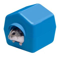 Домик для грызуна Ferplast пластик, 11х11.4х10.4см, цвет синий