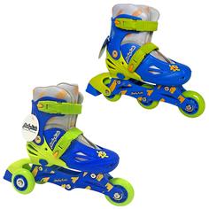 Роликовые коньки детские Moby kids 26-29 Р сине-зеленые 641003 Бег