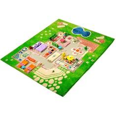 Детский игровой 3D-ковер Домик, зеленый, 80 х 100 см IVI