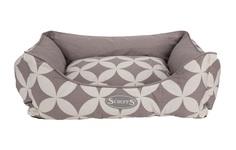 "Лежак для собак с бортиками SCRUFFS ""Florence"", 90 х 70 х 20 см, серый"