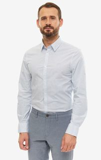Рубашка мужская Guess M93H41-W8BX0-PTW6 белая/голубая/синяя S