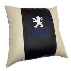 Декоративная подушка из экокожи с логотипом PEUGEOT Россия