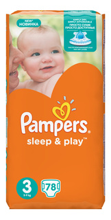 Подгузники Pampers Sleep & Play 3 (5-9 кг), 78 шт.