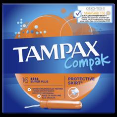 Тампоны ТAMPAX Compact Super Plus Duo 16шт Tampax