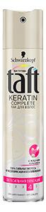 Лак для волос Taft Keratin Complete Сверхсильная фиксация 225 мл