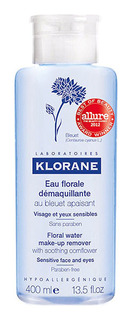 Средство для снятия макияжа Klorane Очищающая вода с экстрактом василька 400 мл