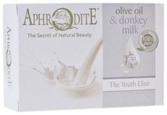 Косметическое мыло Aphrodite Эликсир молодости Оливковое с молоком ослиц 100 г