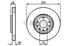 Диск тормозной Bosch 0986479076