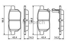 Комплект тормозных колодок Bosch 0986494255